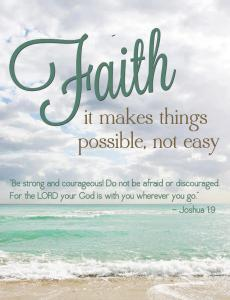 faith possible not easy