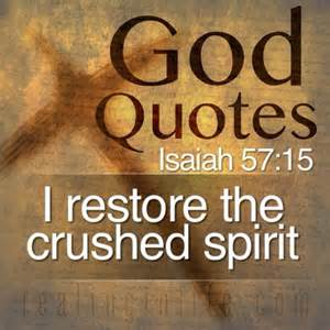 God can restore - Isaiah scripture