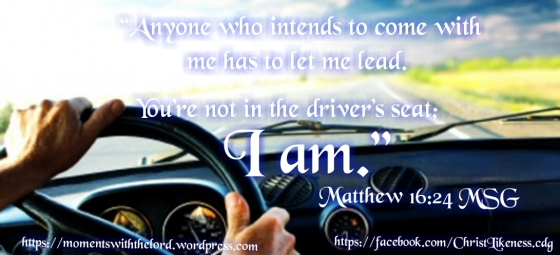 Jesus in the drivers seat
